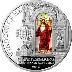 Cook Islands 2012 10$ St. Isaac`s Cathedral Windows Of Heaven Proof Silver Coin :: Top World Coins