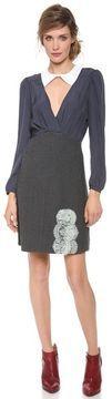 Carven Stripes Flannel Dress on shopstyle.com