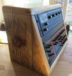 8u wooden sloping rack cabinet - reclaimed wood | eBay