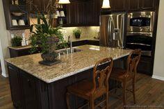 Traditional Dark Wood-Black Kitchen Cabinets #25 (Kitchen-Design-Ideas.org)