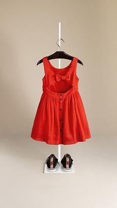 Vibrant red Cotton Crepon Sun Dress - Image 2