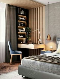 38 Trendy Home Bedroom Design Small Rooms Home Office Design, Home Interior Design, Home Design, Wall Design, Interior Ideas, Design Art, Study Room Design, Design Hotel, Design Interiors