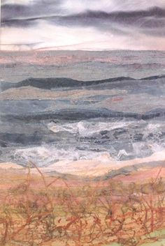 Website of Judith Reece, a Textile Designer based in North Yorkshire, United Kingdom Art Textile, Textile Artists, Textile Design, Freehand Machine Embroidery, Hand Embroidery, Ocean Quilt, Felt Pictures, Creative Embroidery, Textiles