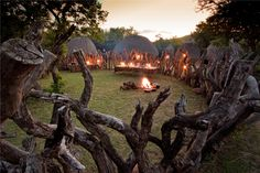 Isibindi Zulu Lodge - traditionelles Boma