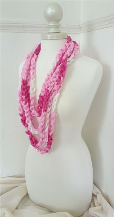 infinity layered chain rope scarf