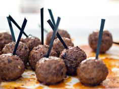 Crockpot BBQ meatballs, with barbecue sauce and seasonings. Use these meatballs as a main dish or use for an appetizer, served with toothpicks.