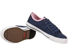 Stylish, Edgy & A Cool Street Vibe....Levis's Zip Ex Low Nylon Indigo/Pink Sneakers Primary tabs