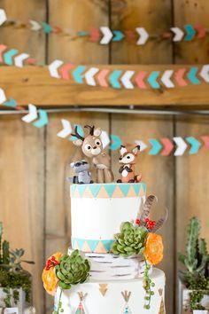 fabulous woodland creatures themed cake