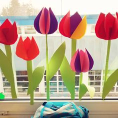#springiscoming #children #tulips #primaria #grundschule