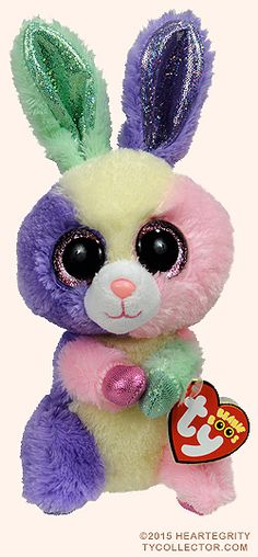 Bloom, Ty Beanie Boos rabbit, reference information and photograph. Ty Animals, Ty Stuffed Animals, All Beanie Boos, Ty Peluche, Beanie Boo Birthdays, Rare Beanie Babies, Ty Babies, Ty Toys, Beanie Buddies