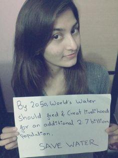 SAVE WATER!! #youthinagselfie Ypard #UNworldwaterday