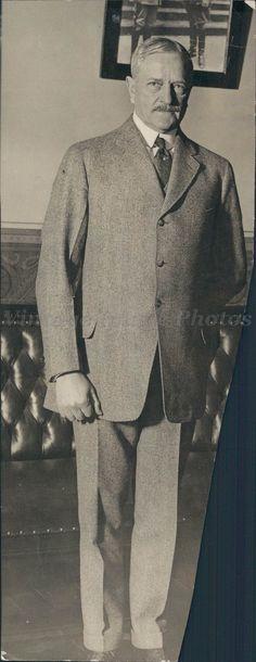 1923 General Pershing Joseph Simpich Business Man Portrait Suit  Press Photo