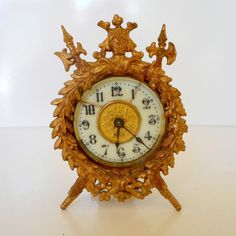 Antique Ansonia Clock Victorian Wind up Clock by nanascottagehouse, $95.00