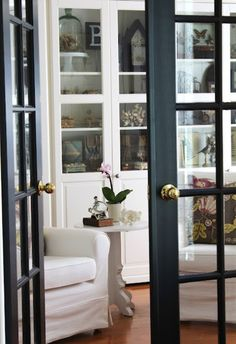 French doors inside