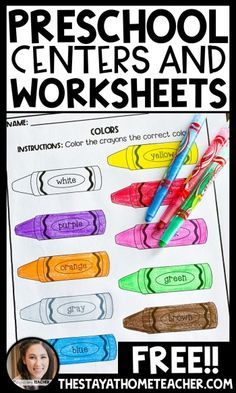 FREE Preschool Centers and Worksheets - The Stay-at-Home Teacher