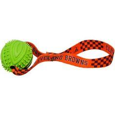 7c02bbebc Cleveland Browns Rubber Ball Toss Toy. Nfl Cleveland BrownsTossedDog ...