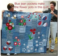 Ever recycle blue jeans to make a quilt? @Regina Martinez Martinez Hager Hager Breitner