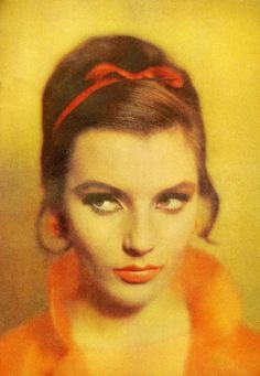 Red bow  - Mademoiselle, June 1961*hair inspiration*