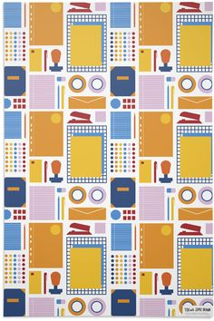 Stationary Wrapping Paper