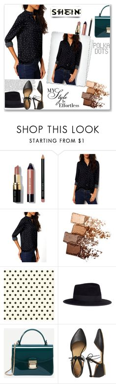"""""""My Style Is Effortless"""" by tattooedmum ❤ liked on Polyvore featuring Bobbi Brown Cosmetics, Maybelline, Maison Michel, Gap, PolkaDots, contestentry and shein"""