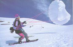 Craig Kelly Kiting. Original snow kiting.