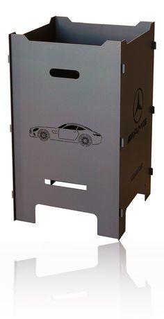 Gast-Feuerkorb 40x40x70 cm mit individuellem Logo Outdoor Cooking, Filing Cabinet, Logo, Storage, Home Decor, Metal, Purse Storage, Logos, Decoration Home