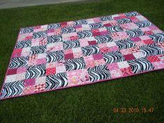 Zebra Quilt by materialgirlkirsten, via Flickr