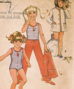 1970s McCall's 2374 Vintage Sewing Pattern Girls by midvalecottage