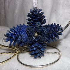 Original Handmade Pine cone Ornamentsall are by Morethebuckles