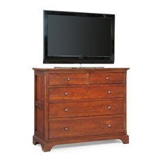cresent fine furniture retreat cherry 5 drawer small media dresser the retreat cherry 5 drawer small media dresser offers rich visual appeal thatu0027s more