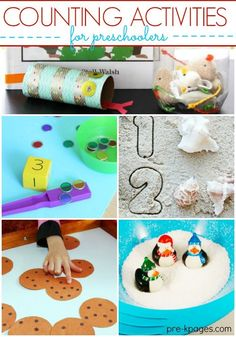 Work on counting with your preschoolers with this fun roundup of counting activities and games!