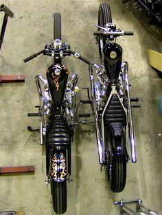 Bobber Inspiration - Bobbers and Custom Motorcycles Vintage Bikes, Vintage Motorcycles, Custom Motorcycles, Custom Bikes, Small Motorcycles, Harley Bobber, Bobber Motorcycle, Bobber Chopper, Motorcycle Garage