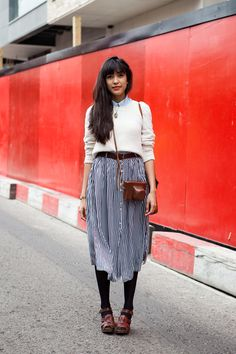 love the skirt and the camera bag #thelocals