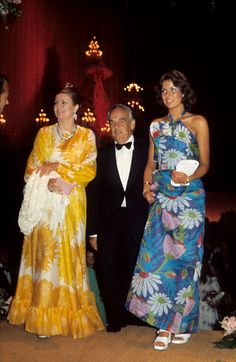 Princess Grace, Prince Rainier, and Princess Caroline