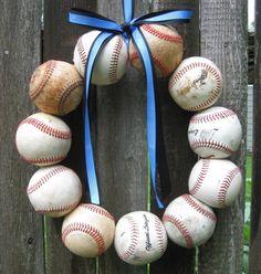 Baseball wreath. Bryce