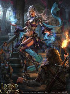 Legend of the Cryptids - Lorraine adv., Laura Sava on ArtStation at https://www.artstation.com/artwork/Gk821