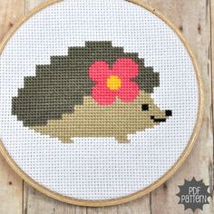 Hedgehog Cross Stitch Pattern Download, sent by email. $4.00, via Etsy.