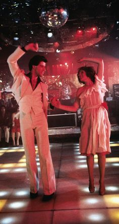 John Travolta And Karen Lynn Gorney - Saturday Night Fever