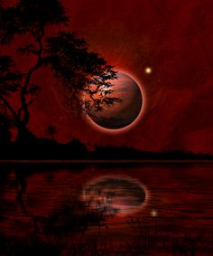 Beneath the blood red moon.
