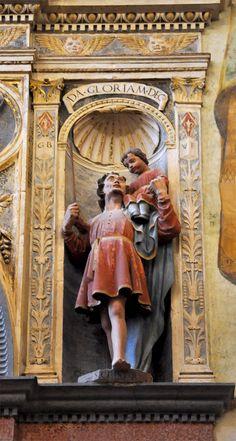 St. Christopher Santa Anastasia, Verona, Religion, Tattoos, Painting, Beautiful, Art, Craft Art, Tattoo