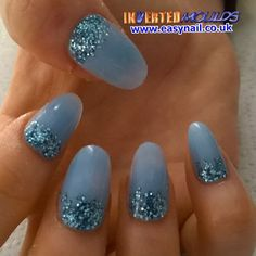 Pale Blue with Chunky Blue Glitter IMs by Jennifer Glass:  Instagram photo by invertednailsystems - http://instagram.com/p/1sEmhGBGDS/  IMs from www.easynail.co.uk   Acrylic powders from www.thenailartist.co.uk   #Invertedmoulds #enuk #ims #nails #nailart #acrylicnails #nailporn #nailgasm #nailstagram #nailartdesign #notd #nailswag #nailsofinstagram #nails2inspire #nailsart