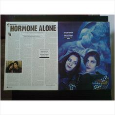 Bananarama. - Shakespears Sister. Hormone Alone 1 page feature Vox Mag