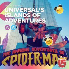 Como las increíbles aventuras de #spiderman muchas más en #IslandsOfAdventures con los grupos #lilaJ16 y #celesteJ16!   #EstamosEnDisney con #Enjoy15!