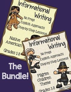 Pilgrim and Native American Informational Writing ~Bundle~