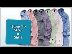 How to Strip a Shirt for Fabric :: by Babs at Fiery Phoenix - YouTube