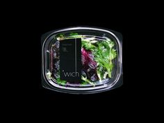 'wich salad container pacakging.  design credit, blow. www.blow.hk