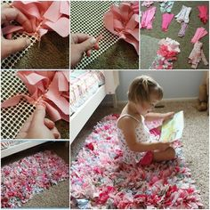 How to DIY Adorable Handmade Rag Rug | iCreativeIdeas.com Follow Us on Facebook --> https://www.facebook.com/icreativeideas