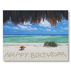 happy birthday on the beach employee birthday cards