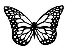 """5.8/8.3"""" diseño de plantilla y la plantilla de la mariposa 1. A5"""