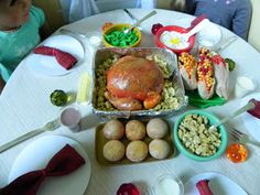 Hi everyone! My dolls and I are on Thanksgiving break so, my dolls decided to have an early Thanksgiving dinner with a few last-minute craf...